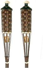Antorcha de Bambú sin base 150 cm con tapa. 2