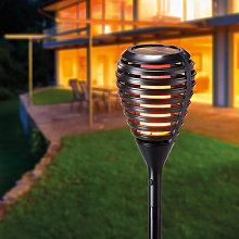 Antorcha solar LED con efecto llama para jardín