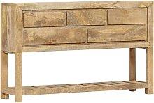 Aparador 120x30x75 cm madera maciza de mango -