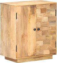 Aparador de madera de mango maciza 60x35x70 cm