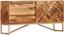 Aparador de madera maciza de sheesham 118x30x60cm
