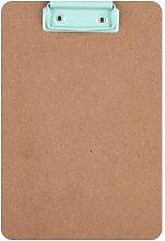 Apli - Carpeta de madera con pinza metalica