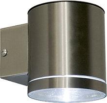 Aplique de exterior acero LED IP44 solar - ETA
