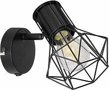 Aplique de pared foco de jaula foco de lámpara de
