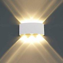 Aplique de pared interior LED de aluminio de 6 W,