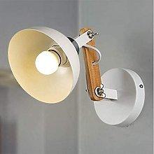 Aplique de pared LED industrial moderna de madera