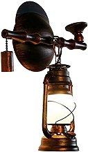 Aplique de Pared Loft Antique Galss Lámpara de