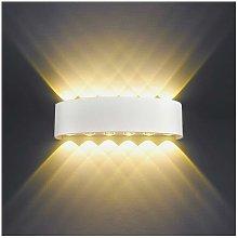 Aplique de pared para interiores LED 12W Blanco