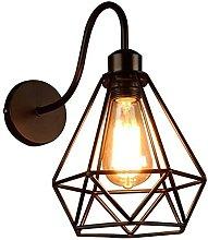Aplique de pared Vintage negro Lámpara de pared