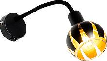 Aplique diseño negro/oro brazo flexible - MELONE