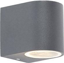 Aplique exterior moderno gris oscuro IP44 - BEN 1