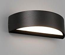 Aplique exterior negro OVAL LED