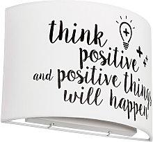 Aplique Infantil 2Xe27 Think Positive