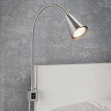 Aplique LED 2080 para montaje en cama, níquel