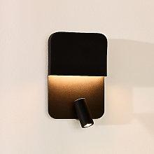 Aplique LED Boxer con foco, negro