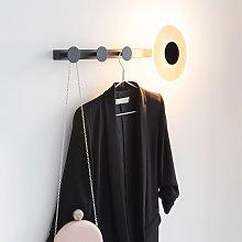 Aplique LED Venus con perchero, negro