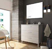 Aquareforma   Mueble de Baño con Lavabo y Espejo