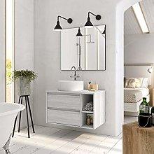 Aquore | Mueble de Baño con Lavabo y Espejo |