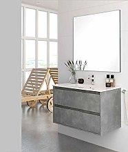 Aquore Mueble de Baño con Lavabo y Espejo |