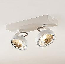 Arcchio Dagur foco de techo, dos luces blanco