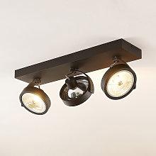 Arcchio Dagur foco de techo, tres luces negro