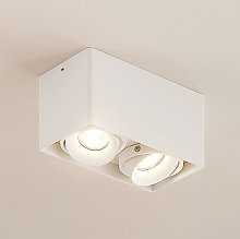 Arcchio Kubika downlight GU10, 2 luces, blanco