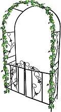 Arco JardíN, Metal Escalada Archway, con Puerta