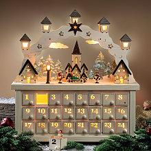 Arco luz LED Pueblo Navideño, calendario Adviento
