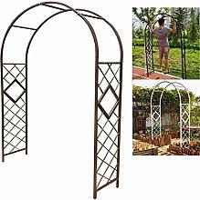 Arco para rosales de jardín, arco de metal,