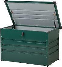 Arcón para exterior verde oscuro 100 x 62 cm