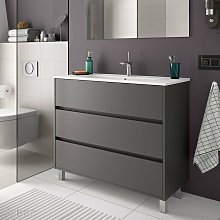 ARENYS Mueble+Lavabo Gris Mate - Medida: 60 CMS -