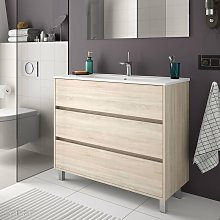 ARENYS Mueble+Lavabo Roble Caledonia - Medida: 60