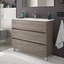 ARENYS Mueble+Lavabo Roble Eternity - Medida: 60