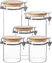 Argon Tableware Jards de almacenamiento de vidrio