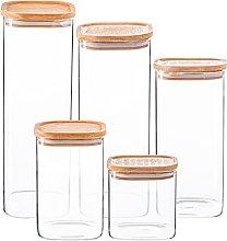 Argon Tableware Jarras de almacenamiento de vidrio