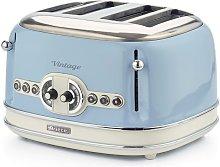 Ariete Tostadora de pan 4 rebanadas Vintage azul