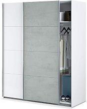 Armario 150x200H cm Blanco mate y cemento 2