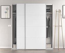 Armario 180x200H cm Blanco brillante 2 puertas