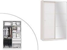 Armario con espejo PEGGY - 2 puertas correderas -