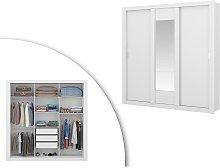 Armario con espejo ROXANE - 3 puertas correderas