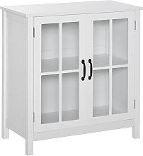 Armario con puertas de cristal blanco HomCom