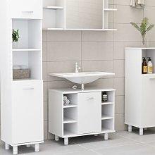 Armario cuarto de baño aglomerado blanco