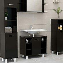 Armario cuarto de baño aglomerado negro