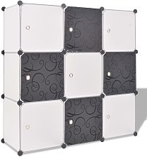 Armario cubo organizador con 9 compartimentos