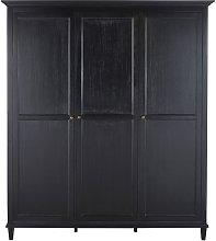 Armario de 3 puertas negro