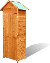 Armario de almacenamiento para jardin marron 79x49x190 cm