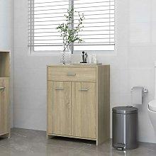 Armario de baño aglomerado roble Sonoma 60x33x80