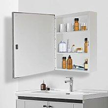Armario de baño con espejo y estante ajustable,