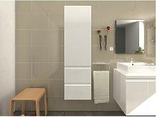 Armario de baño LAVITA - Blanco lacado