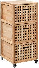 Armario de cuarto de baño 41x41x91 cm madera